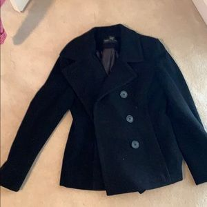 Jackets & Blazers - EUC wool black Peacoat